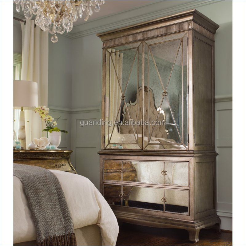 2015 modern lucury french bedroom furniture mirrored
