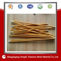 Customized 7001 Aluminium Tent Pole Golden Aluminium Tent Poles