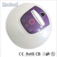 Battery operated mini vacuum cleaner for floor cleaning, with low noise
