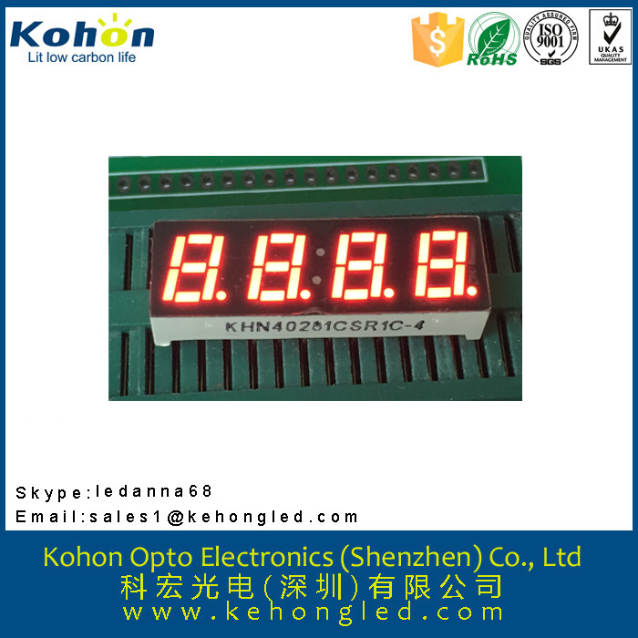 0.28 inch 4 digital seven segment meters fonts LED display various color