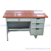 2015 simple modern design steel office tables study writing desk with cheap price
