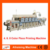 High Speed Rotary Plastic Film 4 Color Flexo Printing Machine