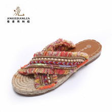 2017 Summer Wholesale Fashion Handmade Boho Shoes Ladies Sandal Shoes