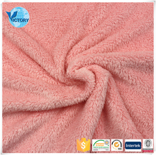 100% Polyester Silver Yarn Sherpa Silky Furry Fleece Fabric