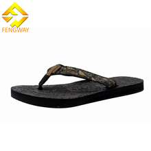 Customized pattern eva embossed flip flops woman