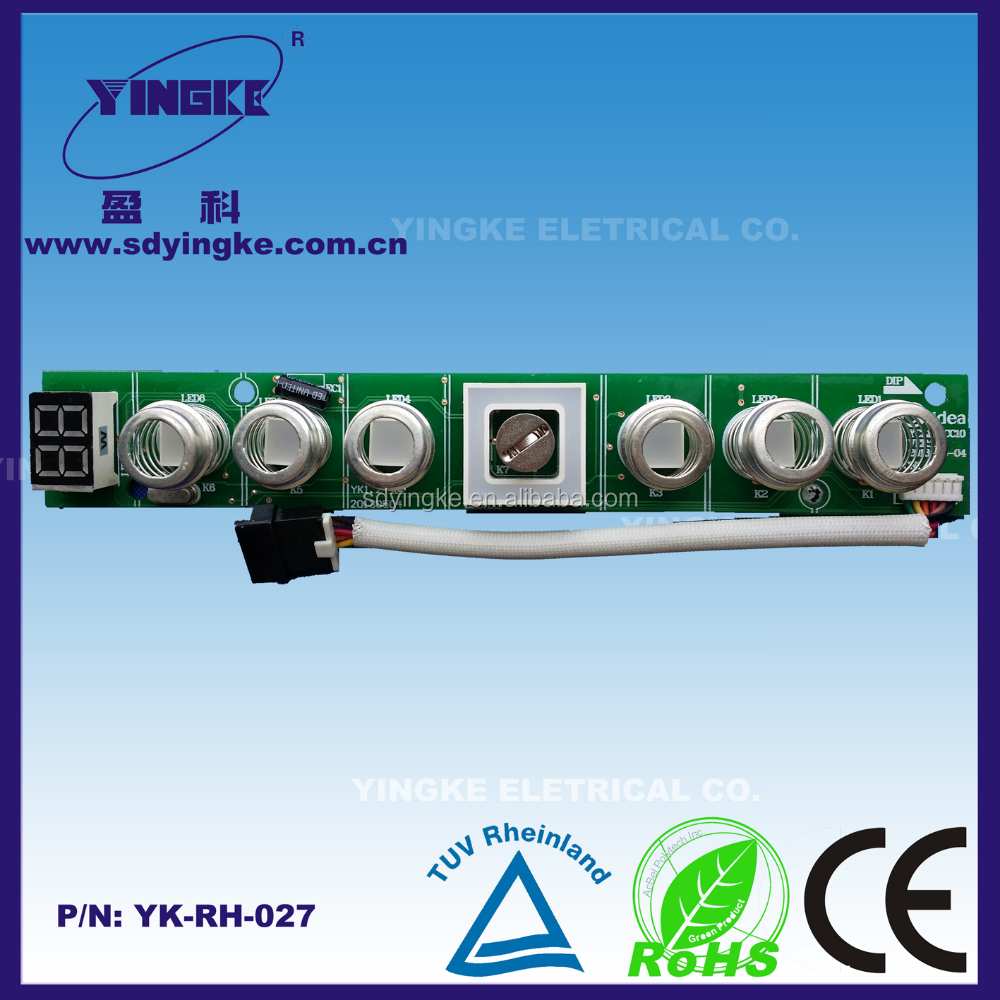 Spring touch display pcb with LED lighting for range hood control passing EMC and LVD test