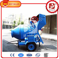 Distinctive 350L self-drop JZR350 mobile diesel hydraulic concrete mixer for sale with CE approved
