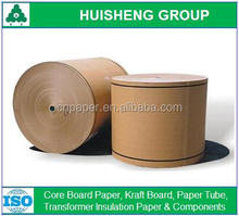 Recycled pulp brown kraft testliner paper rolls