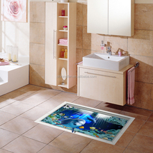 Self Adhesive Vinyl Floor Graphics Creative Large Format Prints For Home Floor Stickers
