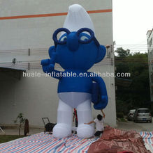 Funny blue lovely spirits inflatable cartoon/best quality cute inflatable cartoon for advertising