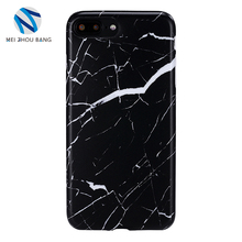scratched marble pattern back cover case For Iphone 7plus 8plus
