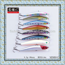 90mm/9.3g Minnow Fishing Bass Hard lures