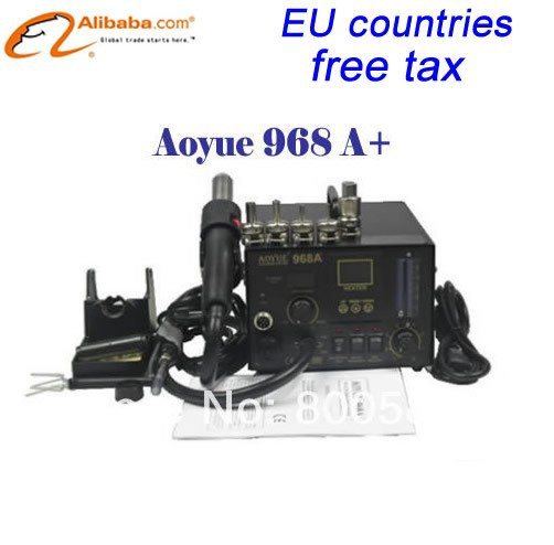 Ship from UK&USA ,No customs duty !! Aoyue 968A+ 3-in-1 SMD soldering station, Upgraded Aoyue968 Repairing System