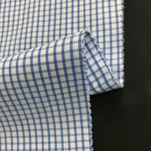 factory direct plain semi-combed woven check polyester cotton yarn dyed weave fabric lining for shirt , pajamas and lining