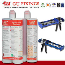 Hand tool glue mortar fast cured concrete screw anchor