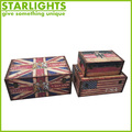 wholesale wooden storage trunk with fabric covered