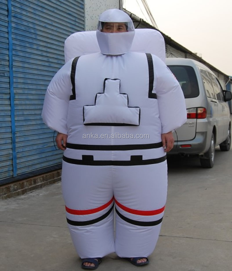 white inflatable spacesuit costume for adults , inflatable astronaut costume