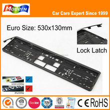 lock euro size plastic car number plate frame