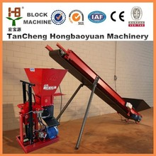 small business equipment HBY1-15 clay brick making machine , interlocking clay brick making machine price list