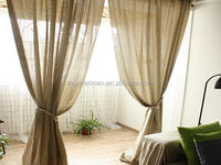 100% linen curtain with hand hemstitch