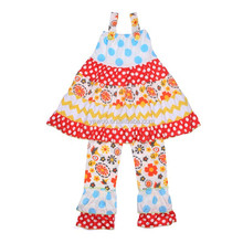 Newest Baby Girls Christmas Outfit 2 Pieces Sleeveless Top With Ruffle Pant Outfit For Girls Cheap Suit Fashion Baby Clothes Set