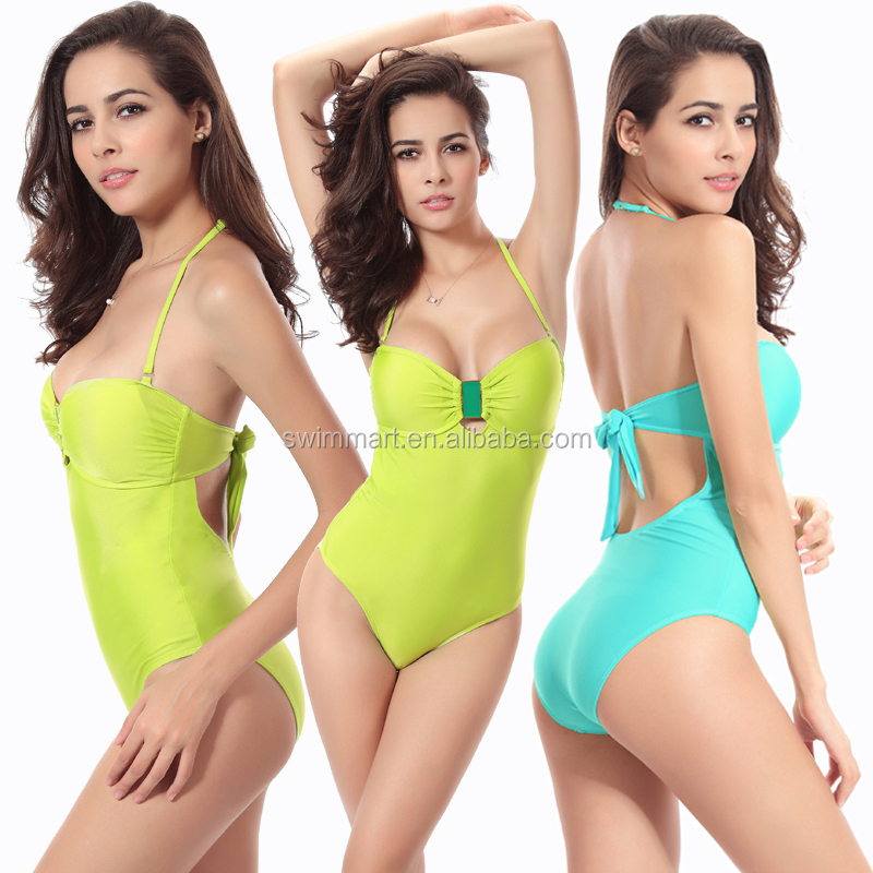 Buckled Center Removable Padded 2014 New Young girl swimsuit models