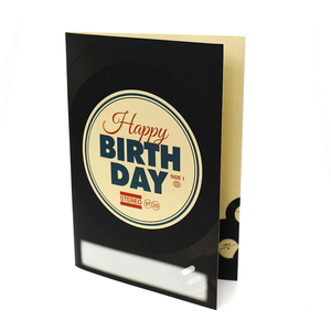 Recordable happy birthday voice recording greeting card