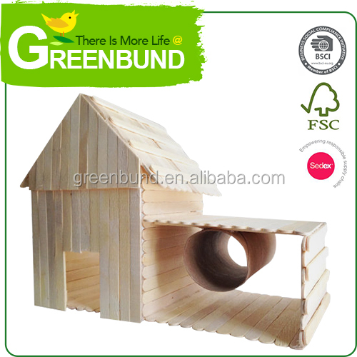 Wood Pet Hutch Gerbils Guinea Pig Chipmunks Hamster Rabbit