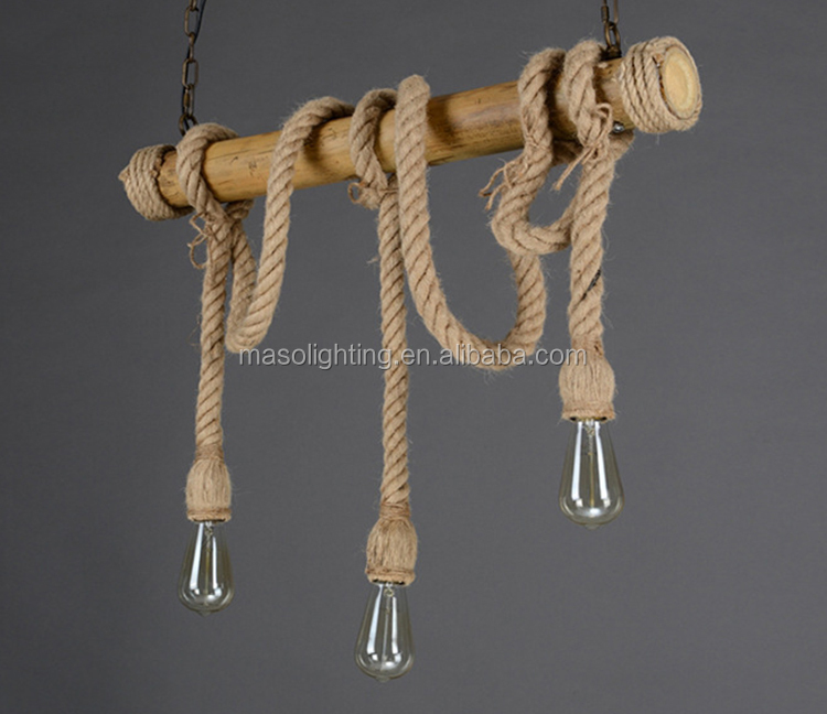 Creative Natural Bamboo Woven Pendant Lamp Restaurant rope chandelier lighting antique lamps chinese style chandelier