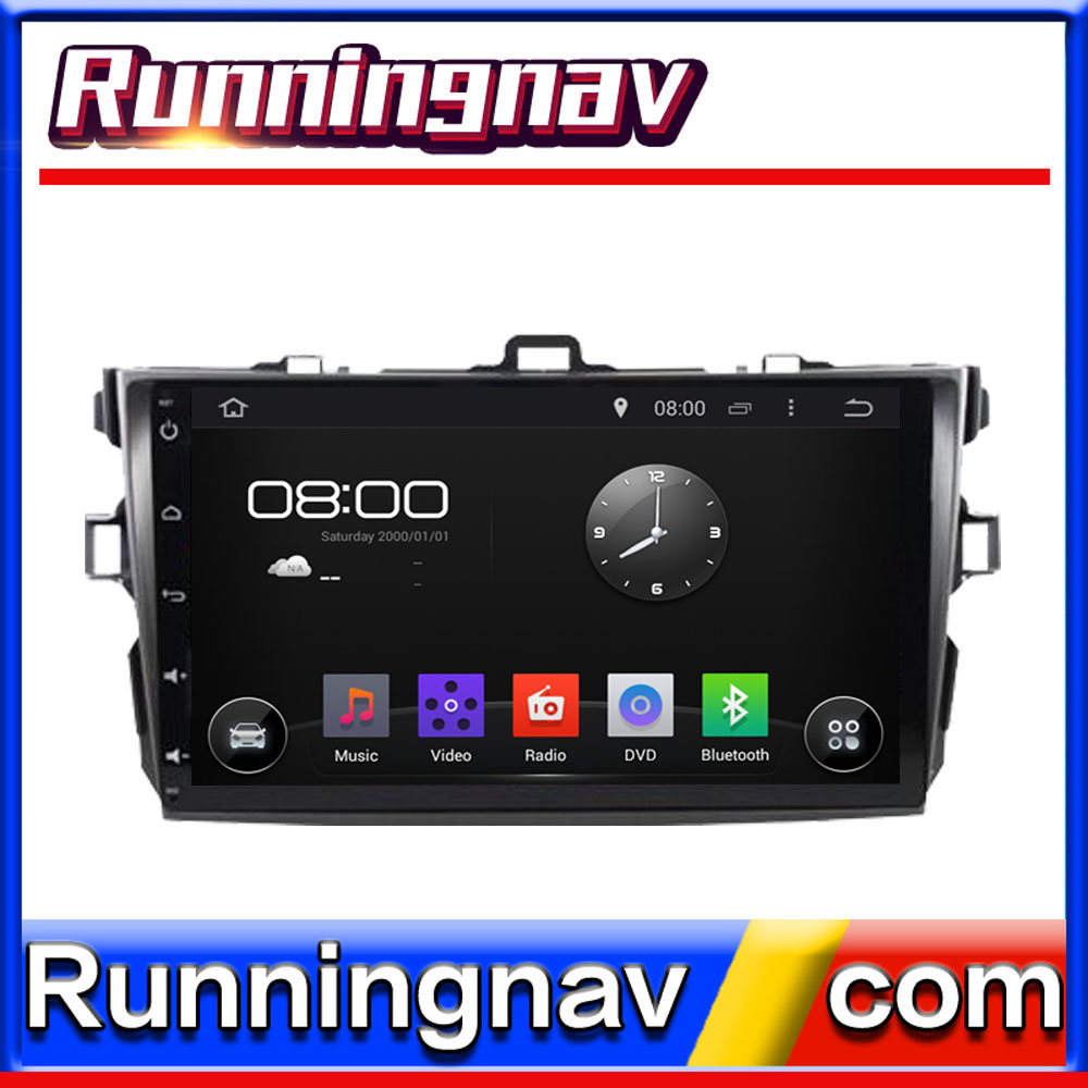 "9"" Android For Toyota Corolla 2007 - 2012 2 Din Quad Core / Qcta Core HD Car DVD Player GPS Navigation Radio"