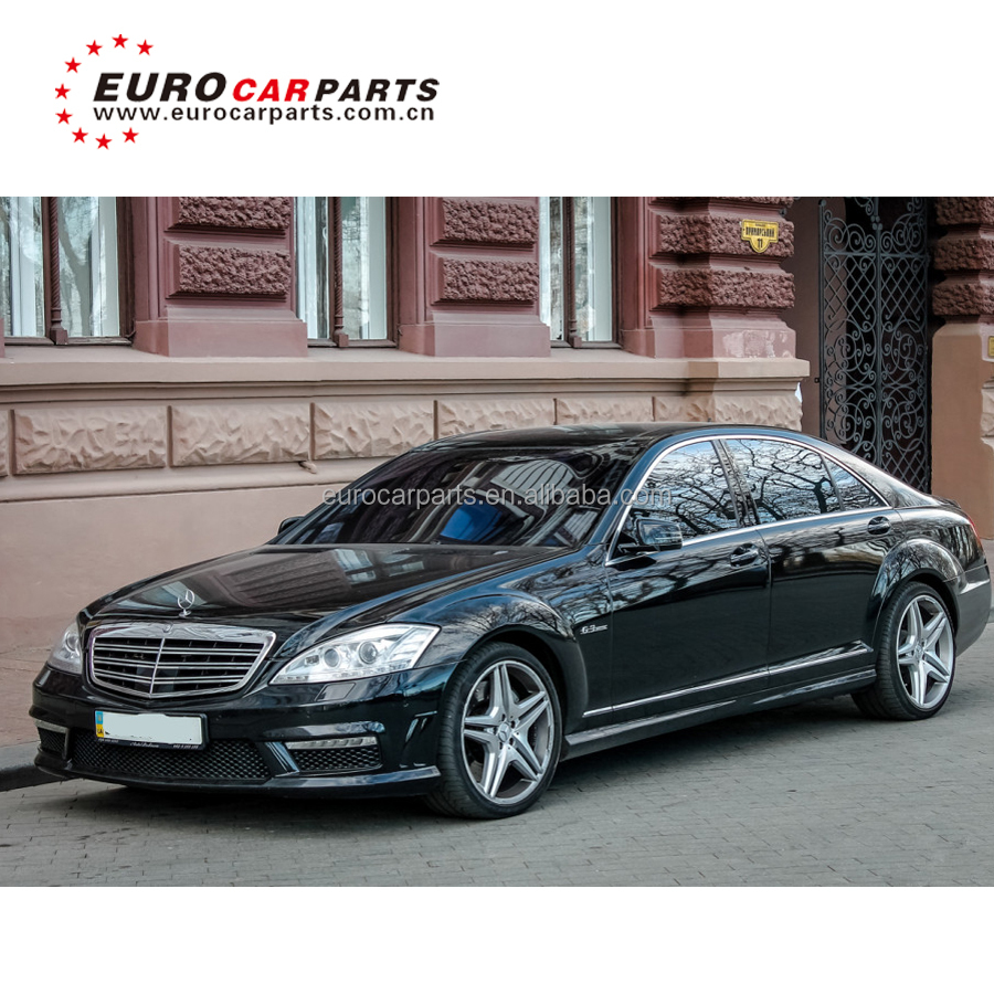 S Class w221 body kit with front bumper grille side mirrors rear bumper and <strong>muffler</strong> tips for S65 s63 2006-2012year