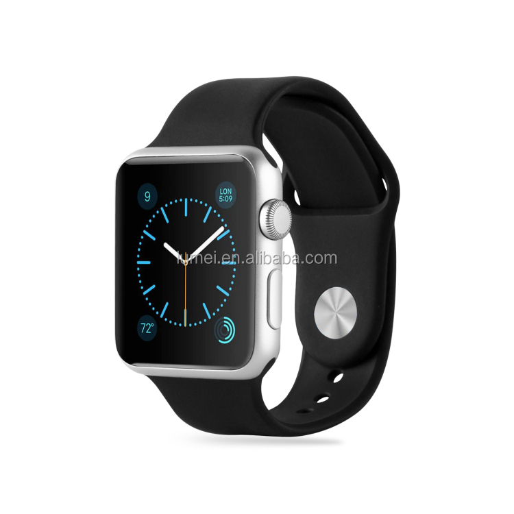 Genuine TPU Strap Wrist Band For Apple Watch All Models 42mm 38mm