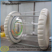 China water park toys pvc inflatable water roller wheel inflatable