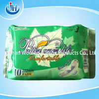 280mm Lady sanitary pads with cotton/mesh cover for night use OEM manufacturer/fresh sanitary napkins