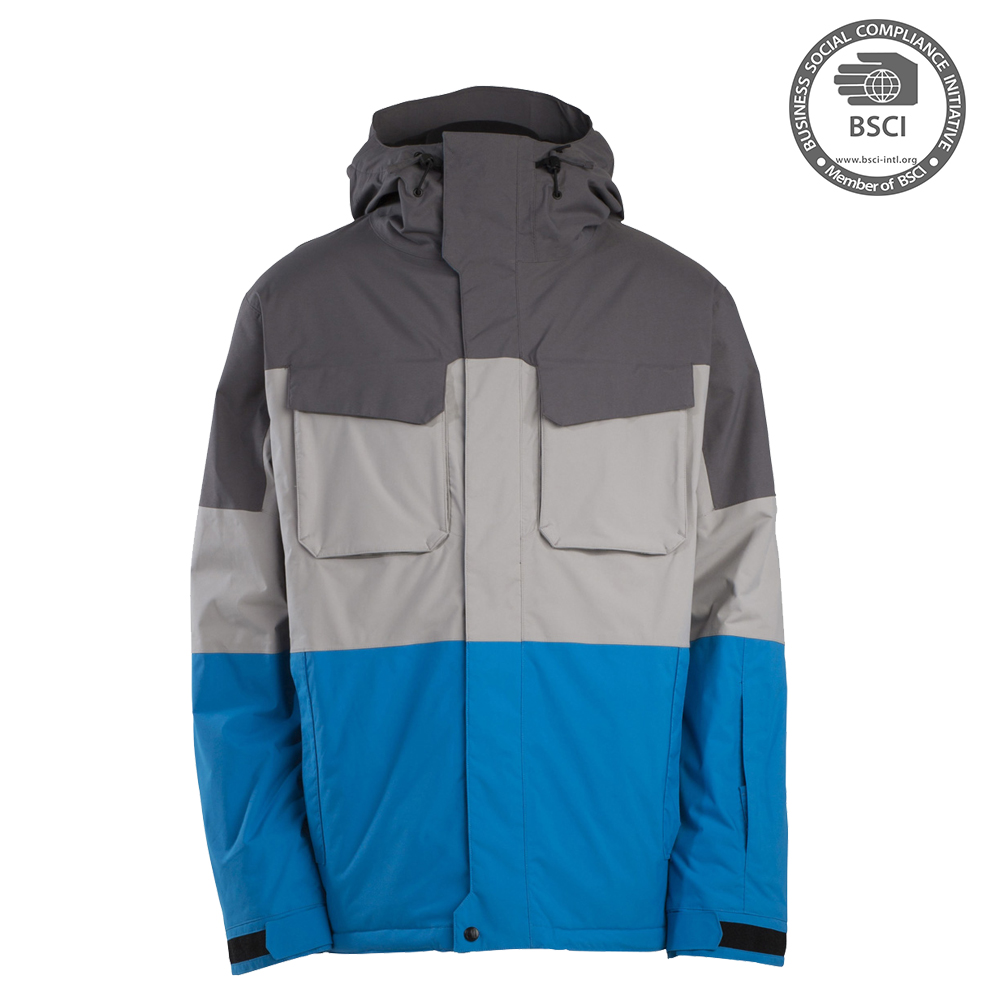 Waterproof Breathable Ski Jacket With Ski Wear Fabric