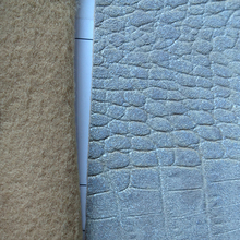 New Style 1.0mm embossed fabric crocodile PVC leather for bags