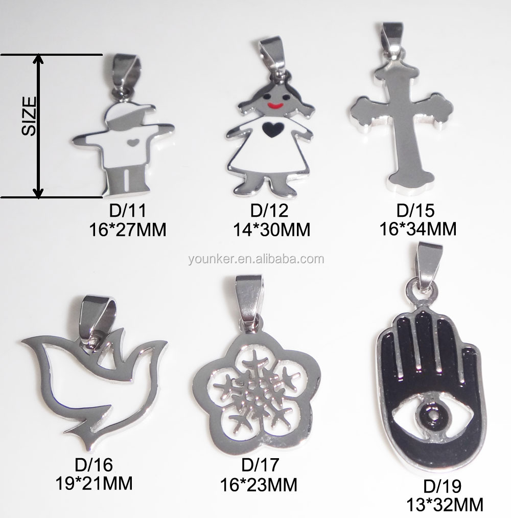 High Quality Rhinestone Stainless Steel Cross Pendant