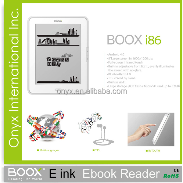ereader reviews Onyx Boox I86 8 inch wifi front light infrared touch best ereader