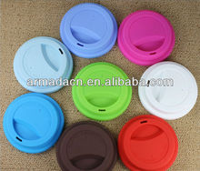 Eco-friendly ceramic coffee cup silicone lids