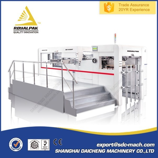Trade Assurance Computerized Cardboard automatic platen die cutting and creasing machine
