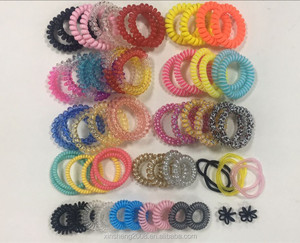 BSCI audit factory New Arrival Magic Fashion Telephone Wire Line Hair Ties Elastic Rubber Bands Bubble
