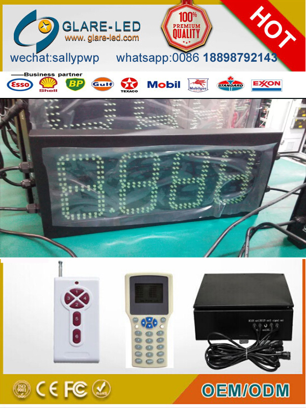 16/24 inch Petrol Station LED Gas Price Sign/LED digital display with DIESEL on top