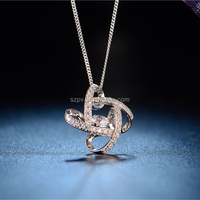JP0519- Customized Gold Necklace Designs in 10 Grams Diamond Shape Elegant 925 silver Necklace & Pendant Jewelry