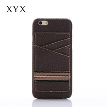 Leather back cover case for iPhone 6 with card holders to hold your cards