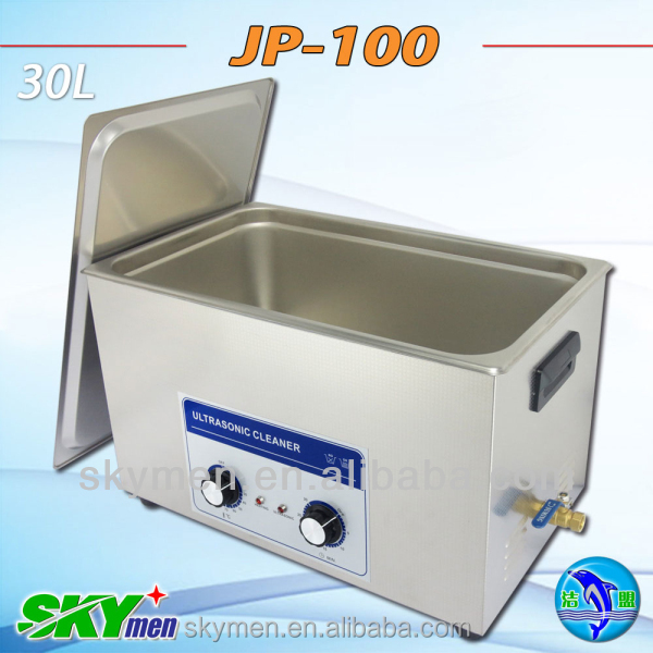 Free shipping 30l ultrasonic laboratory furniture testing tube washer jar cleaner JP-100,with timer and heater