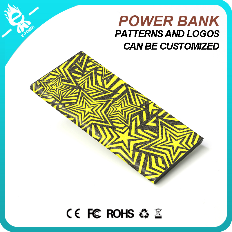 mini leather smart 5000mah credit card credit card slim rohs mobile power bank charger powerbank