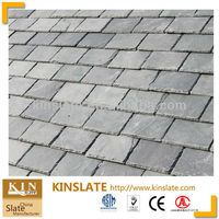 ASTM approved chiseled etat grey stone slate roof tile
