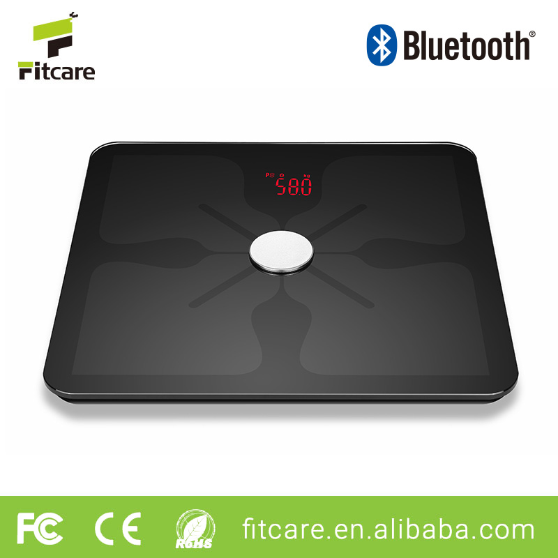 Hot selling household wireless bluetooth body fat smart scale with APP