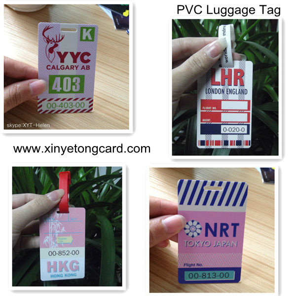Airplane PVC luggage Tag With Transparent Lanyard