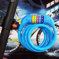 1.2m Password Lock Combination Security Lock 5 Position Cable Password Lock